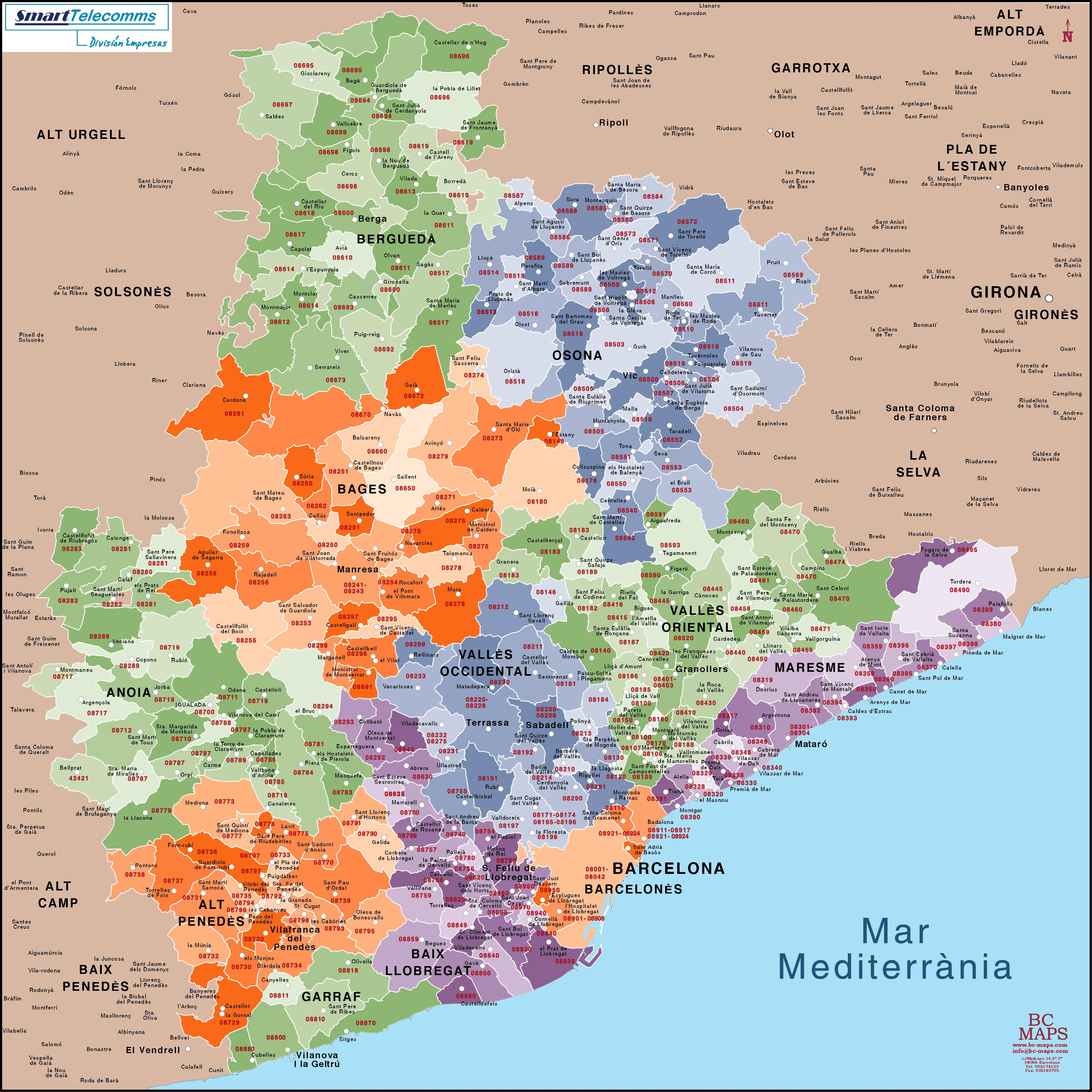 Hilo geogrfico del da Pon el mapa de comarcas de tu