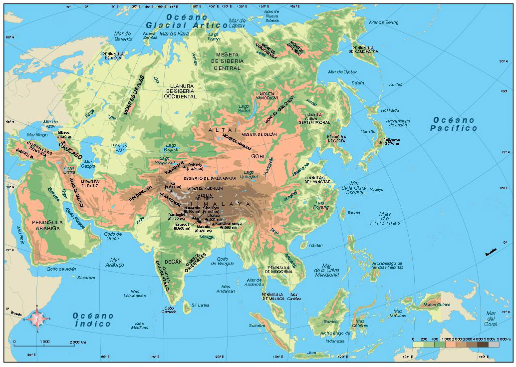 Asia Fsico  Mapas murales personalizados laminados forex foam